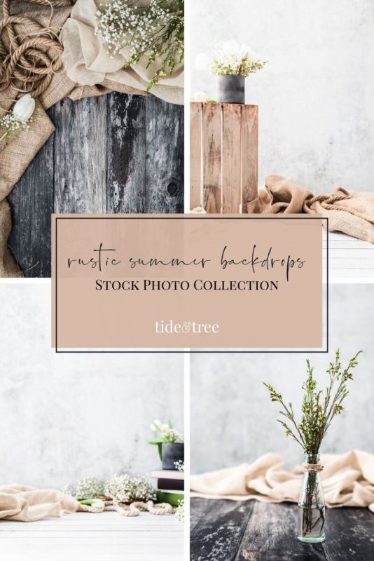 Rustic Summer Backdrops Stock Photo Collection