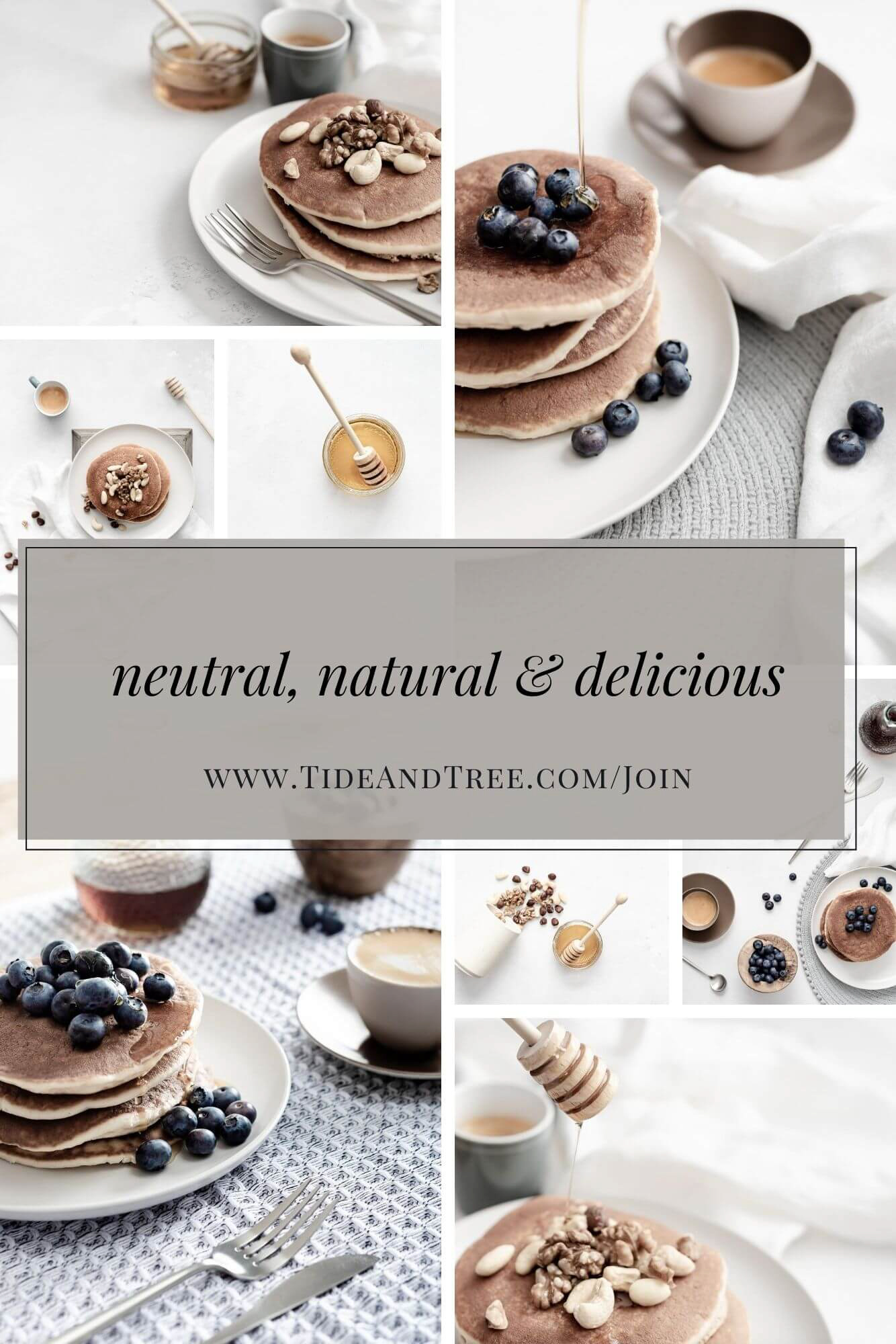 Neutral, earthy and delicious breakfast stock photos