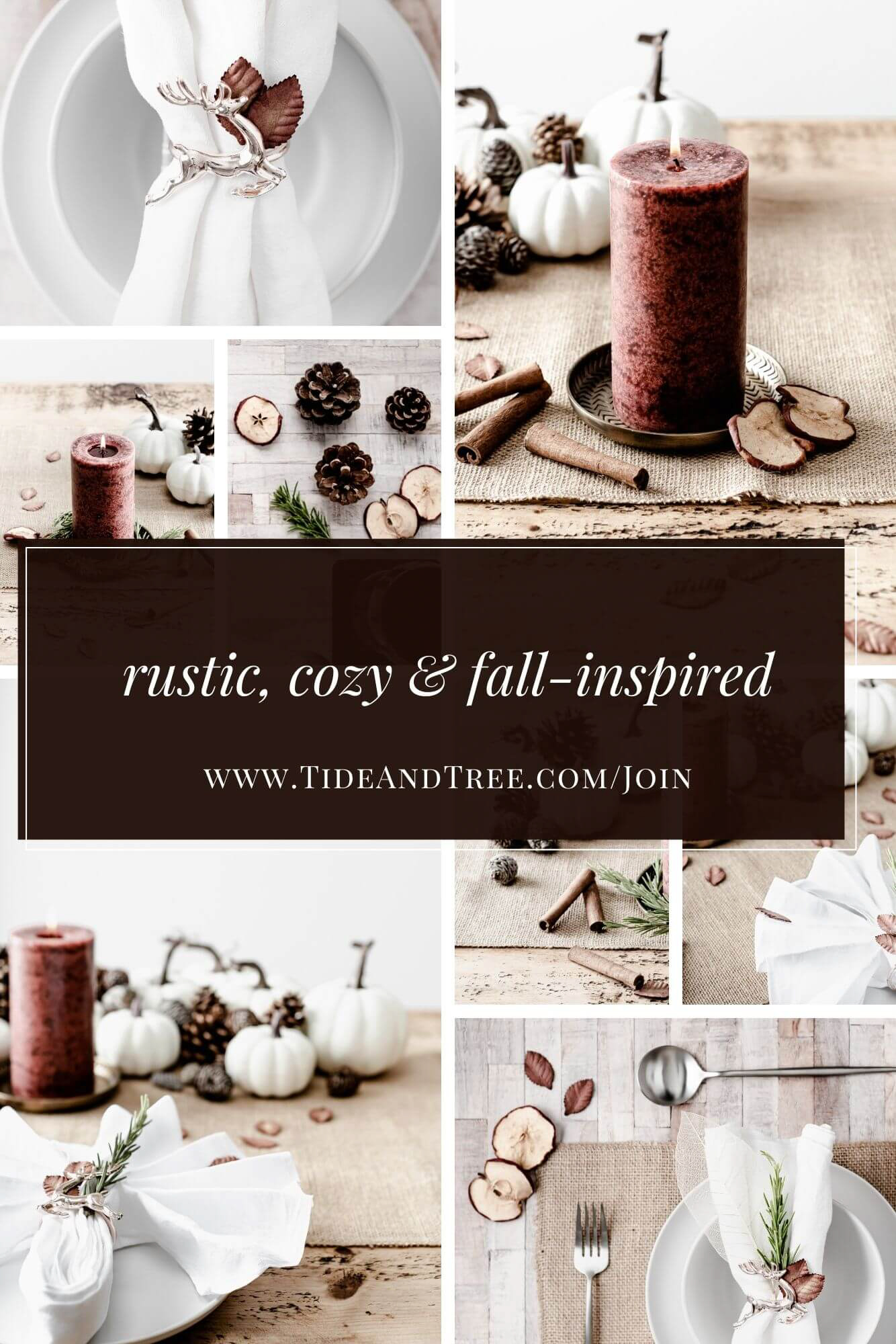 Rustic, cozy & fall-inspired